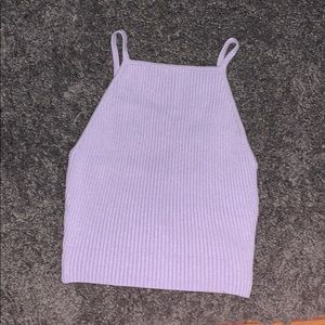 Purple Forever 21 crop tank